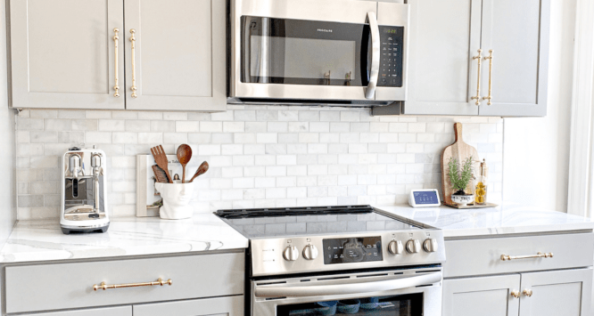 A kitchen with materials that will improve the air quality in the home.