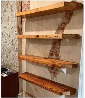 A bookshelf in the industrial interior design.