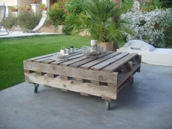 Table Basse Jardin Palette