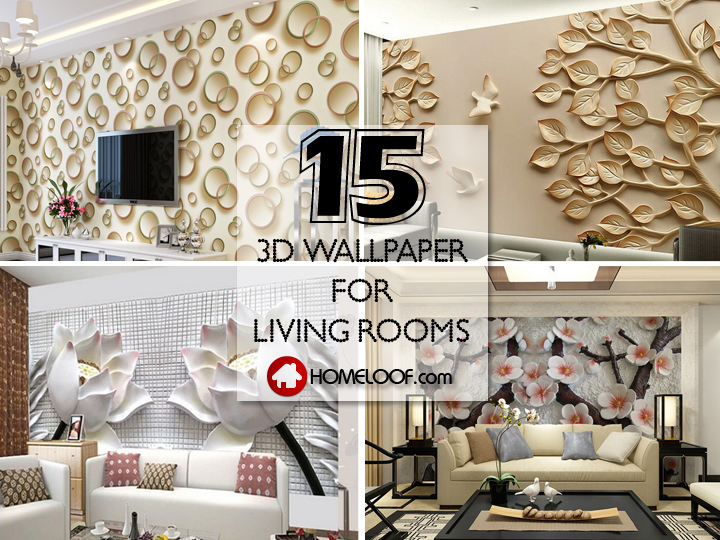 amazing living room wallpaper simple interior design ideas for small 3d 15 amazingly realistic home loof best