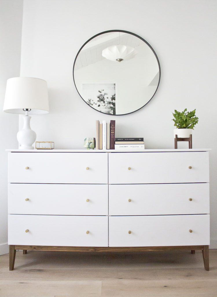 Modern White Dresser, A West Elm Inspired Ikea Hack