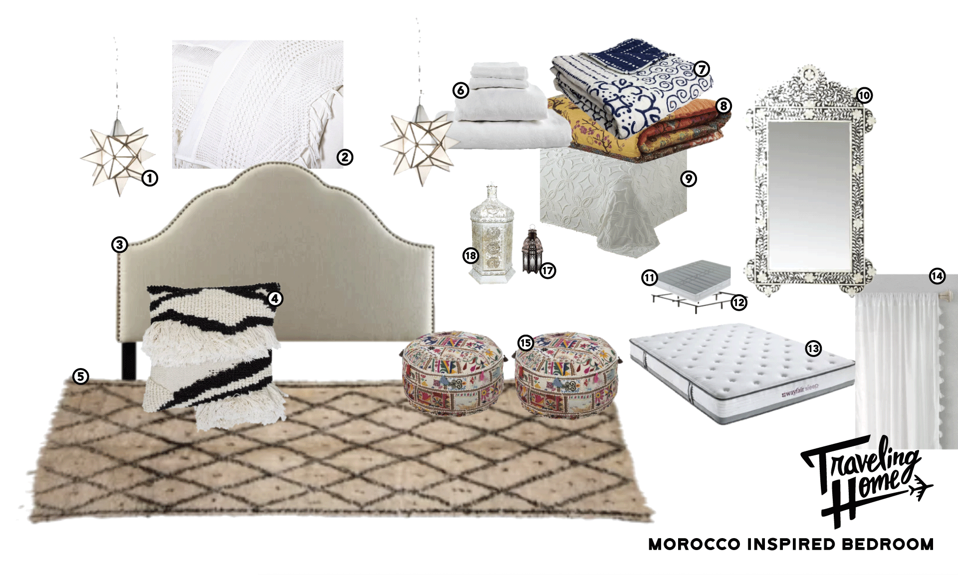 Shop Traveling Home Episode 2: Morocco Inspired Bedroom