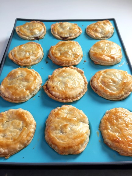 Party Pies fresh from the oven