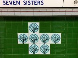 Seven Sisters Victoria line tiles designed by Hans Unger 1968 Mid century