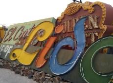 at The Neon Boneyard Neon Museum Las Vegas. Golden Nugget, El Cortez, Lido