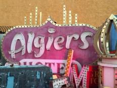 Algiers sign at the Neon Boneyard, Las Vegas