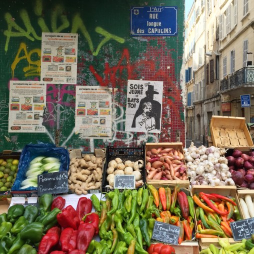 Colourful Market in Marseilles