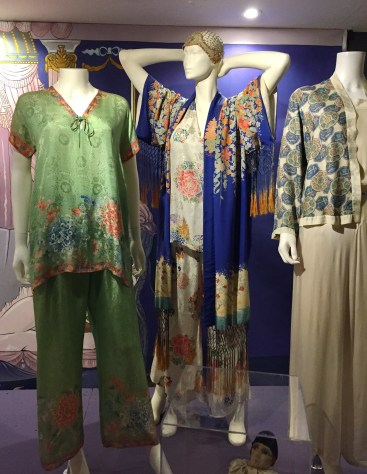 Pyjamas and robes from the 1920s with oriental influences