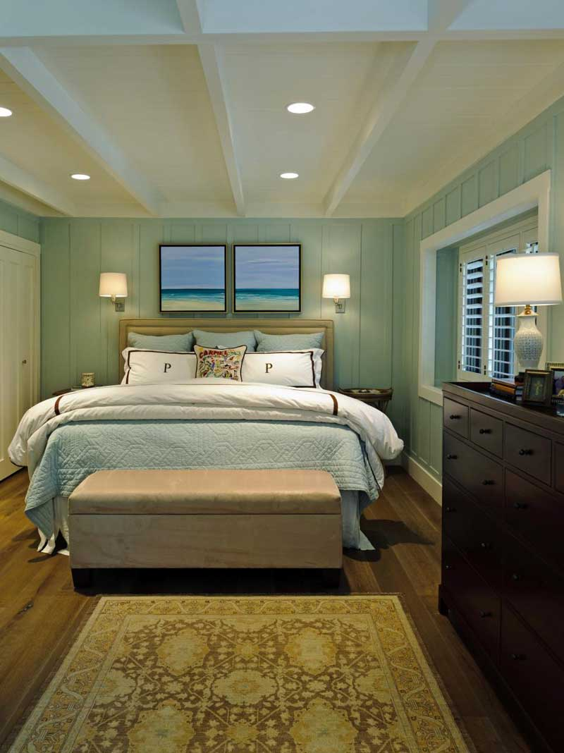Bedroom with Sea Green Walls