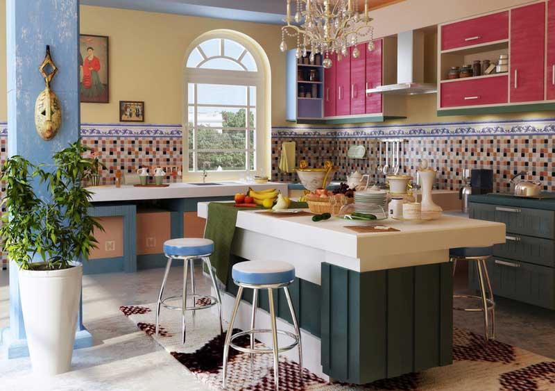 Colorful-mediterranean-kitchen-design