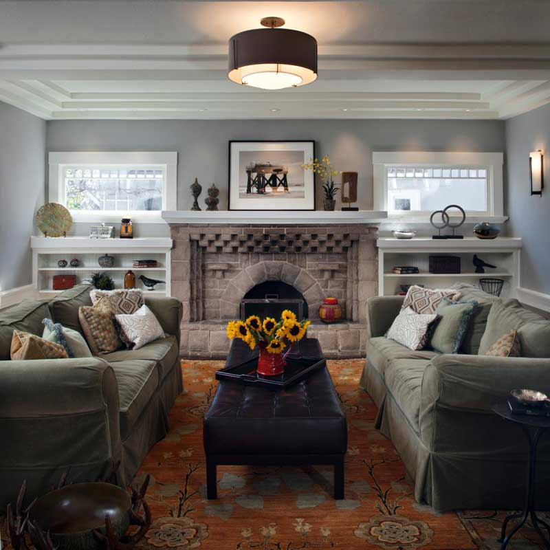 Craftsman Living Room Design Ideas