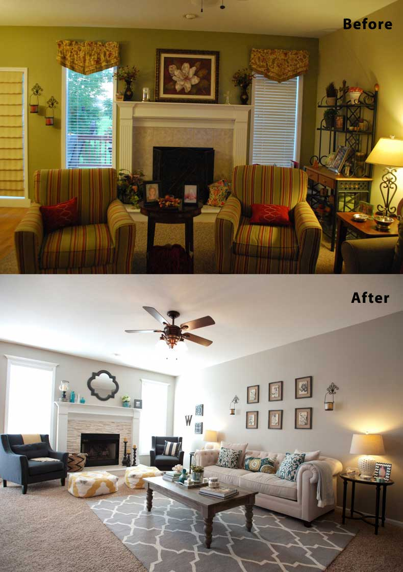 Living Room Remodels Before and After 11