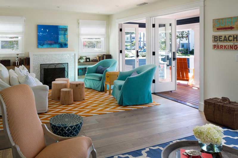Living Room with Coastal Decor