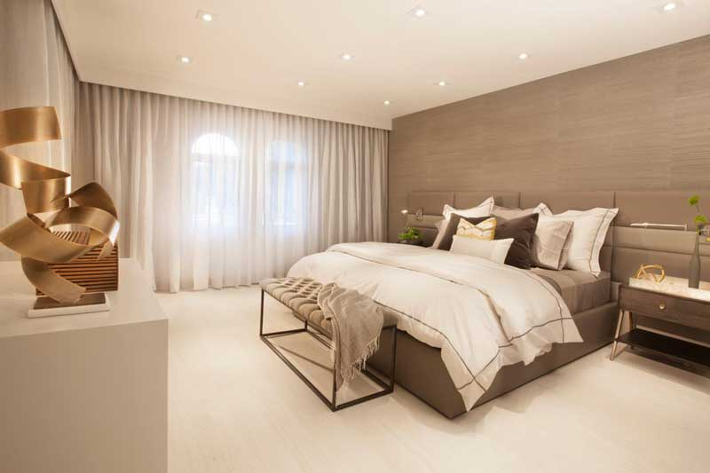 Modern Bedroom with Gray Accent