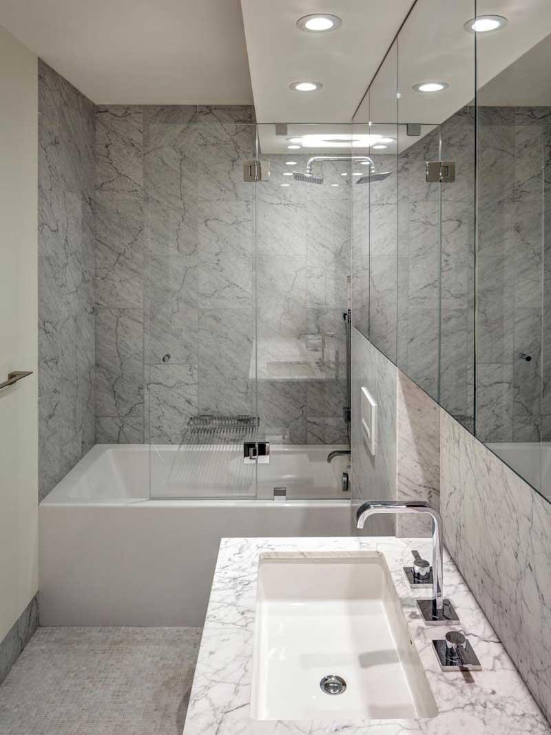 Modern Minimalist Black And White Bathroom