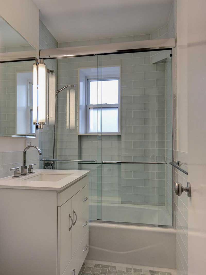 Modern White Bathroom with Single Vanity