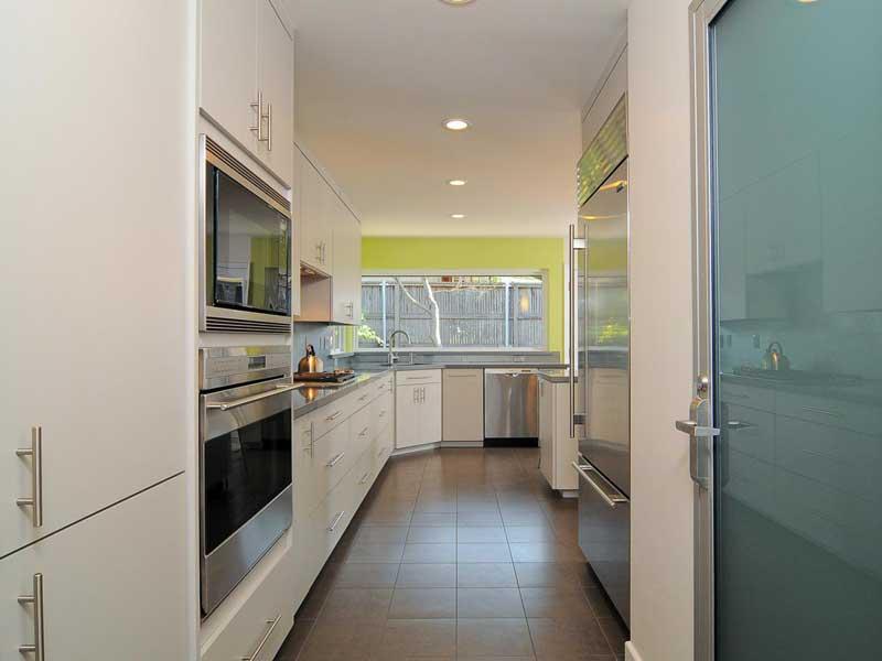 White Galley Kitchen Design