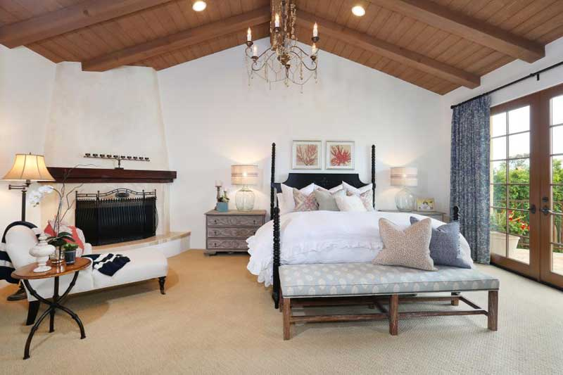 White Mediterranean Bedroom