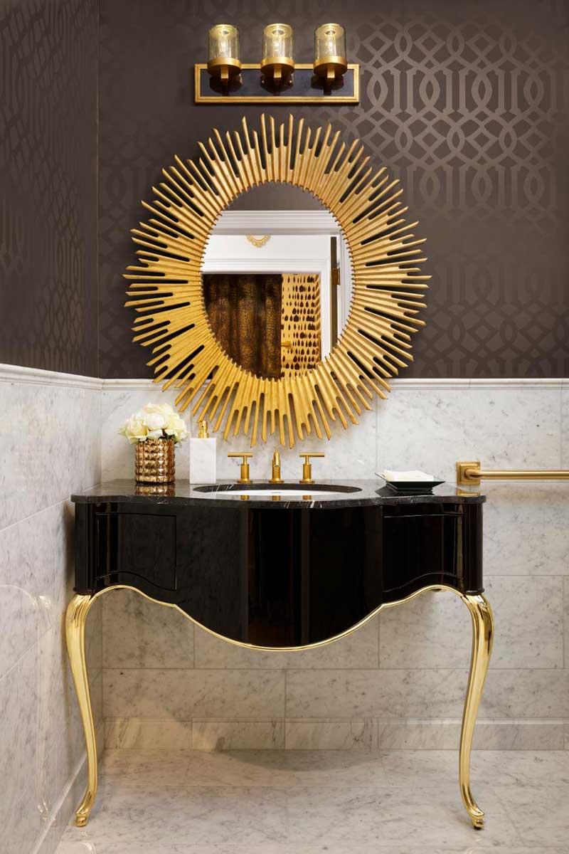 35 bathroom wall decor ideas homeluf art deco sunburst mirror