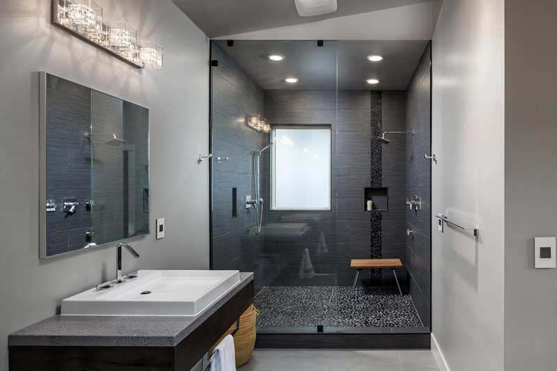 Black Tile Shower