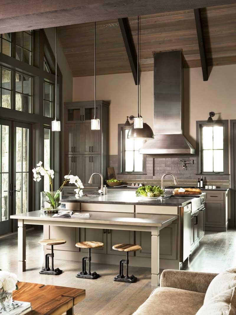 Kitchen Island with Double Sink & 50 Gorgeous Kitchen Island Design Ideas - HOMELUF