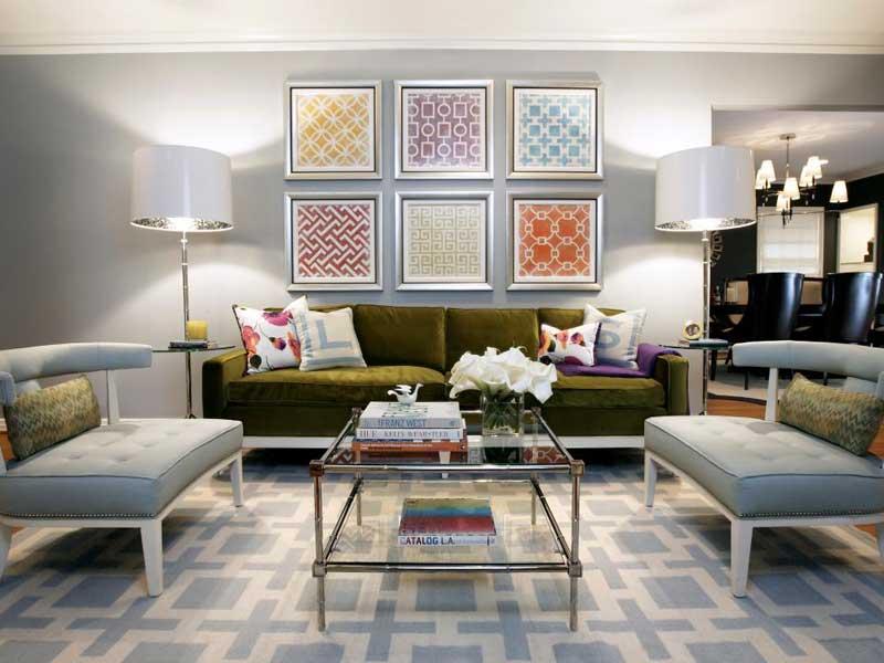 Living Room Multi-Color Patterned Art Display