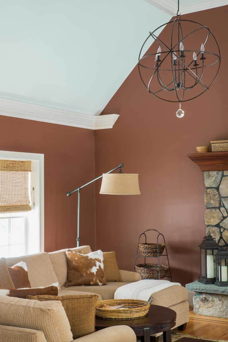 Living Room With Chocolate Brown Walls