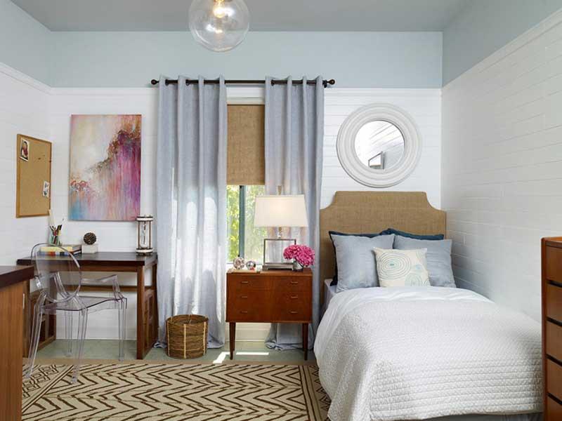 Sophisticated Teenage Girl Bedroom with Artwork