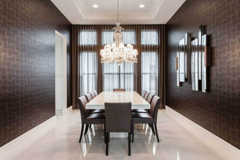 contemporary dining room chandelier. modern dining room with crystal chandelier 100 Dining Room Lighting Ideas  HOMELUF