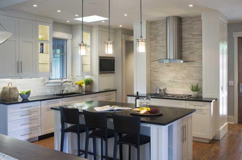 kitchen with white tube pendant light & 50 Modern Kitchen Lighting Ideas for Your Kitchen Island - HOMELUF azcodes.com