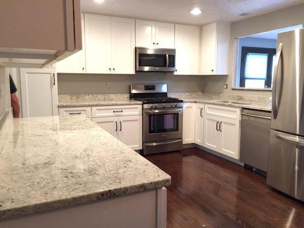 Colonial White Granite Kitchen