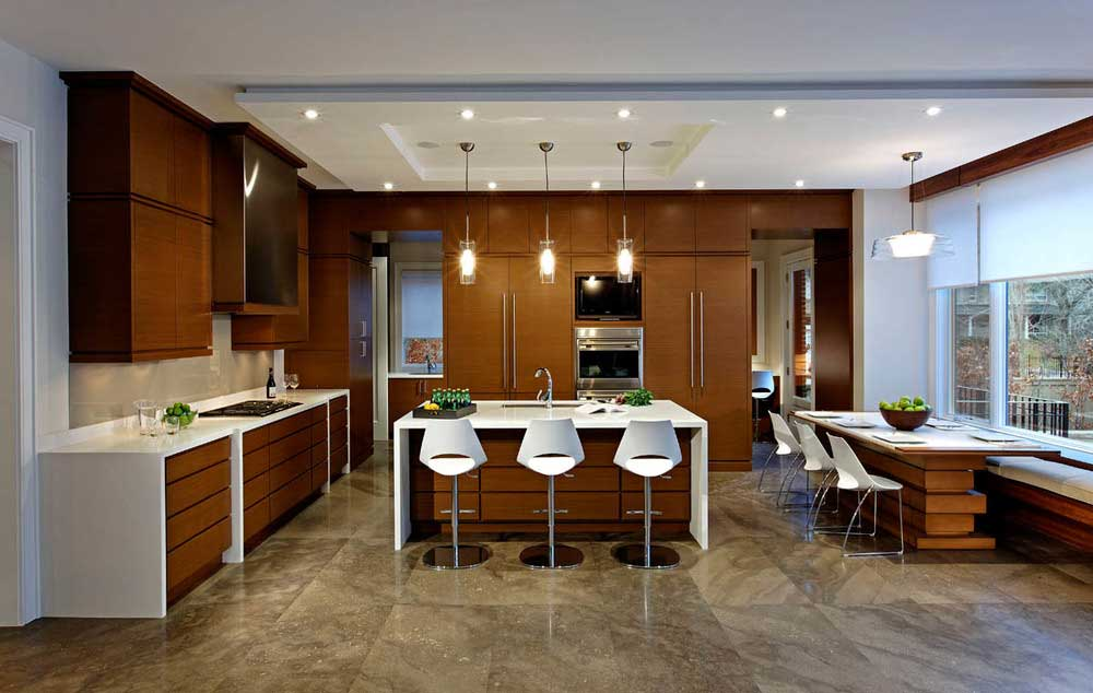 Superieur Kitchen With Glass Tube Pendant Light Fixtures