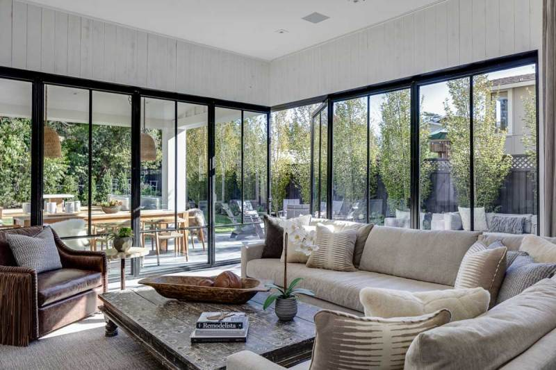 living room with natural lighting