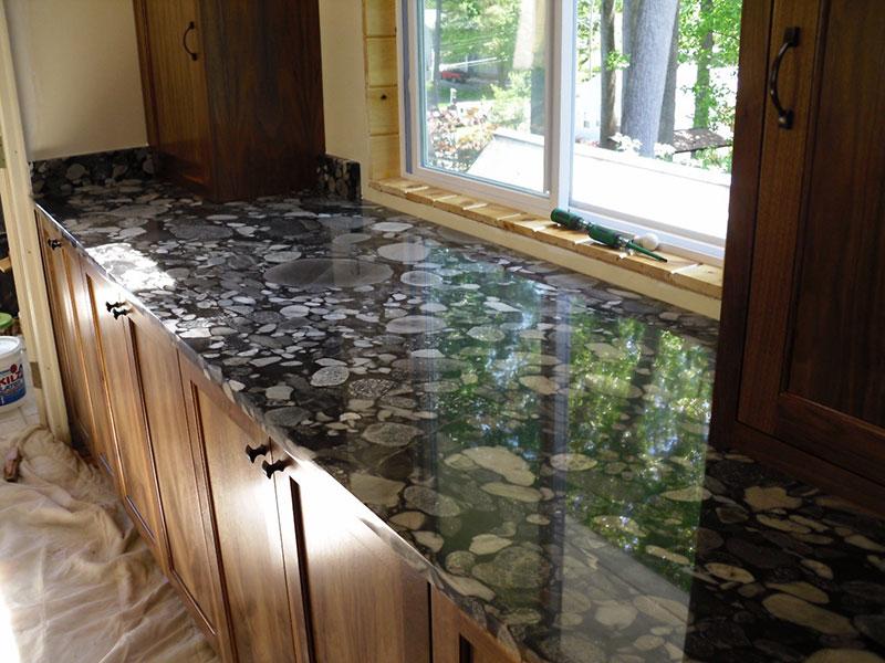Black marinace granite countertops
