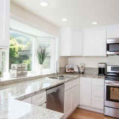 Panda Kitchen Cabinets Storage Hutch Colonial White Granite Countertops (pictures, Cost, Pros ...