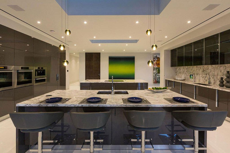 best granite colors for living room india furniture on a budget top 25 white kitchen countertops homeluf com modern with river