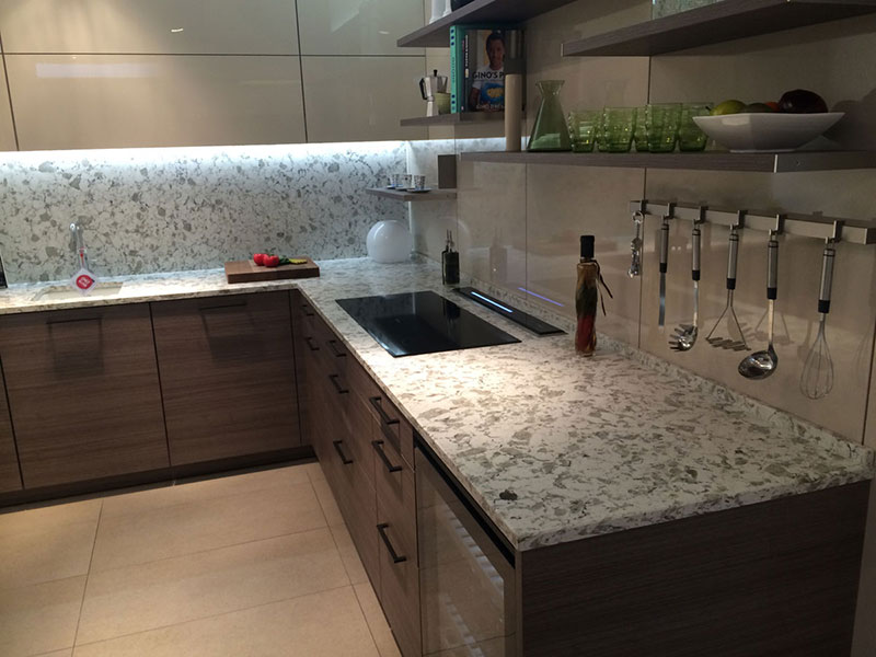 Alaska white granite kitchen worktop