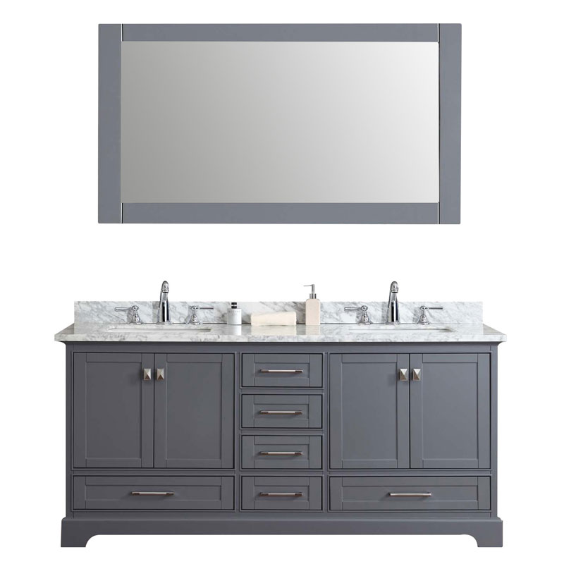 72 Double Sink Bathroom Vanity Set with Mirror