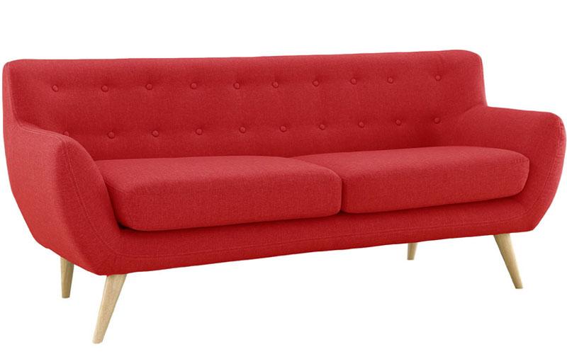 Mid Century Modern Style Sofa Red