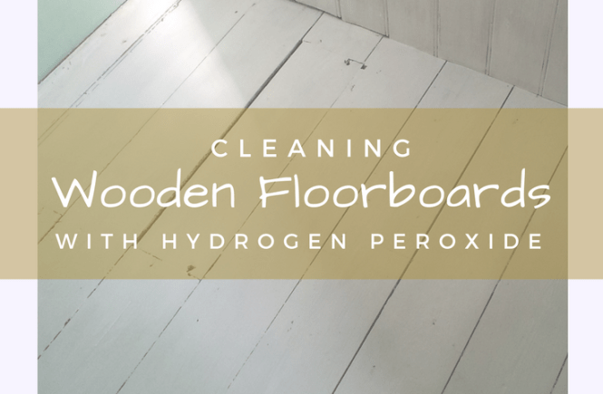 My bathroom floor was transformed - cleaning wooden floorboards with hydrogen peroxide and caustic soda really works!
