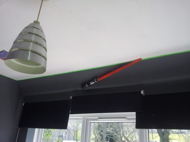 Star Wars bedroom makeover - lampshade