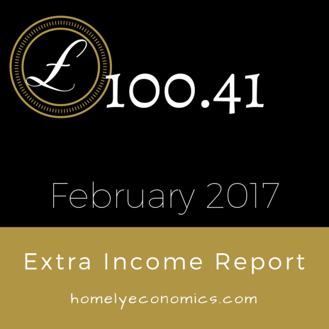 Our extra income report for February 2017 - click through to read what we did to earn some extra income!