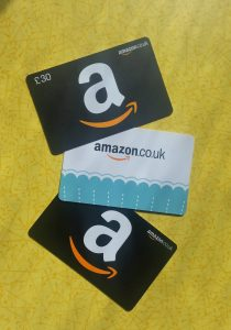 Amazon gift cards - click on the picture to read about three gift card tricks to save you money!