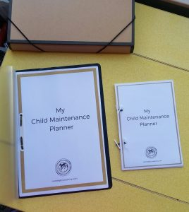 I've been testing different sizes for my Child Maintenance planner.