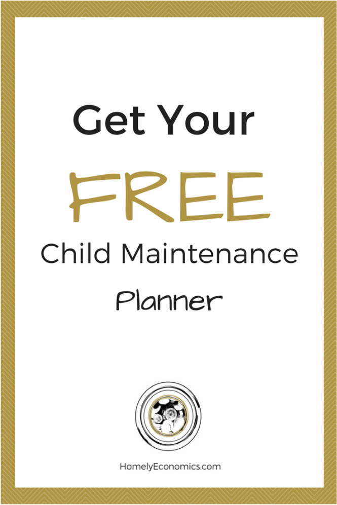 Get your free child maintenance planner.