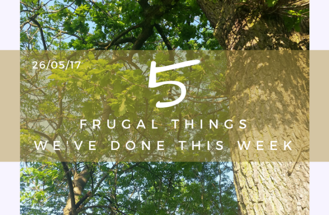 These are the five frugal things we've done for this week - 26th May 2017.