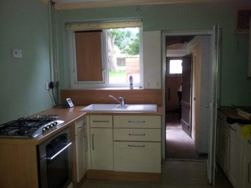 Our kitchen before renovations. You won't believe what it looks like now!