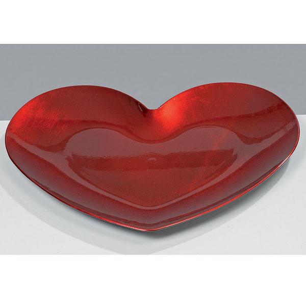 Rote Herzschale