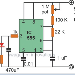 Led Circuit Diagram 2000 Nissan Frontier Tail Light Wiring Blinking Flashing And Fading Lights Using Ic 555