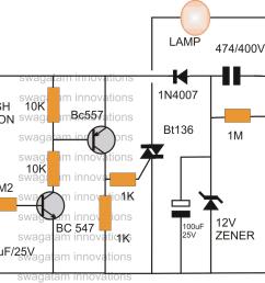bedroom lamp timer using ic 741 circuit diagram [ 1136 x 878 Pixel ]